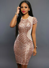 Women New Sexy Sequins Package Hip Cocktail Evening Clubwear Bodycon Mini Dress