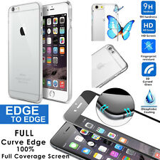 """iphone 6/6s+plus 4.7""""/5.5"""" REAL Full 3D Curved Tempered Glass, Hard Crystal Case"""
