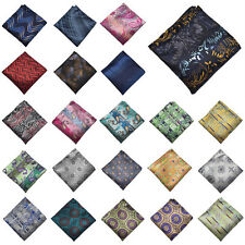 Men Paisley Flowers Geometric Wedding Silk Pocket Square Party Handkerchief