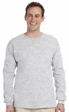 Gildan Men's 100% Cotton 6 oz Long Sleeve Bulk Lot Pack Basic Tee Wholesale G240