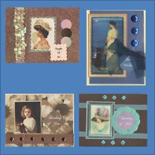 Victorian Thinking of You Cards-Each  Card is Unique-Free Shipping in USA