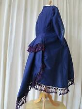 Rare Antique Victorian Purple Woollen Tailored Back Bustled Maternity Jacket