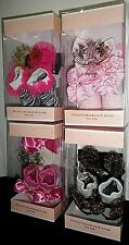NWT JUICY COUTURE Infant Baby Girls Socks Booties & Hair Bow Headband Box Set