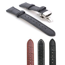 22/20/18/16/14 mm Premium Luxury Genuine Leather Classic Watch Strap Band