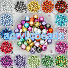 4-20MM Acrylic Miracle Round Spacer Beads 3D illusion Plastic  Beads