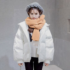 Women Winter Coat Cotton Quilted Loose Hooded Zip Up Puffer Jacket Outerwear New