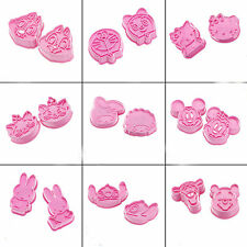 2PCS Cute Pink Cookie Fondant Cake Craft Chocolate Decorating Mould Cutter Mould