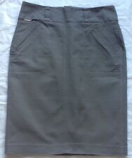 M & S Autograph. Fully Lined Taupe Knee Length Pencil Skirt size 12.