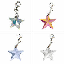 STAR CRYSTAL (6714) 925 STERLING SILVER CHARM, made with SWAROVSKI ELEMENTS