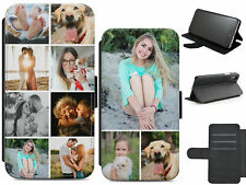 PERSONALISED COLLAGE ANY 8 PHOTOS PRINTED LEATHER FLIP WALLET CASE COVER