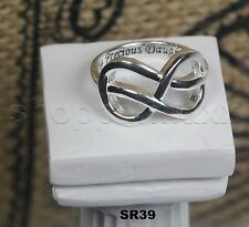 My Precious Daughter Infinity 925 Silver Nickel Free Mother Daughter Purity Ring