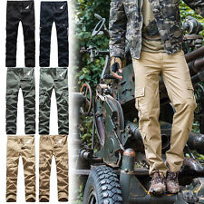 Cool Men Tactical Army Battle Combat Trousers Casual Cargo Loose Fit Long Pants