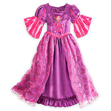 NEW Disney Store Princess Rapunzel Deluxe Nightgown Costume GOWN NEW Tangled
