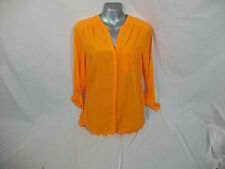 MARKS AND SPENCER LADIES BLOUSE , ORANGE OR PINK . SIZE 8 , 10 ,12