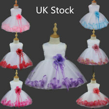 Party Flower Girls Baby Petals Princess Pageant Wedding Dress Birthday Communion