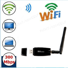 300Mbps Wireless USB Wifi Adapter Dongle Network LAN Card 802.11n/g/b+Antenna FY