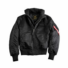 ALPHA INDUSTRIES MA-1 D-TEC SE BLACK FLIGHT BOMBER JACKET NIP