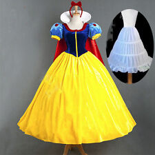 Adult Snow White Dresses Women Cosplay Halloween Costume Fancy Dress Prom Party