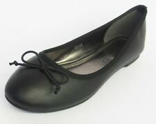 Ladies Black Anne Michelle Slip On Dolly Shoes F80183