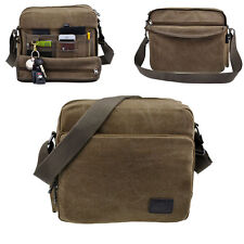 Men's Vintage Canvas Business Shoulder Messenger Bag Military Travel Satchel New