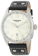 Torgoen Swiss Men's T28102 T28 3-Hand Stainless-Steel Aviation Watch