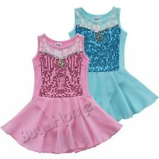 Girls Lace Ballet Dress/Tutu Leotard Skirt Dance Gymnastics Fancy Fairy Costume