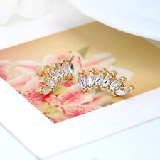 1Pair Fashion Girl Elegant Crystal Rhinestone Ear Stud Silver Gold Earring Cool