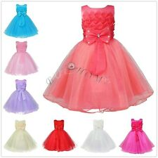 Flower Baby Girl Princess Dress Party Pageant Wedding Bridesmaid Tutu Dresses