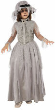 CHILD FANCY DRESS VICTORIAN GHOST MAID ZOMBIE BRIDE HALLOWEEN COSTUME