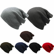 Fashion Men's Womens Knit Baggy Beanie Oversize Winter Hat Ski Slouchy Chic Cap