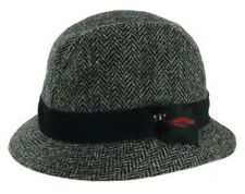 Harris Tweed Trilby Hat with Moleskin Band - by Glen Appin GH0361