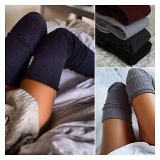 women Winter Soft Cable Knit Over knee Long Boot Thigh-High Warm Socks Leggings