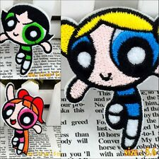 10pcs/set Cartoon Powerpuff Girls Embroidered Iron/Sew On Patches Applique Motif