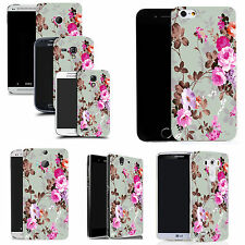 art case cover for various Mobile phones -  pink rose silicone