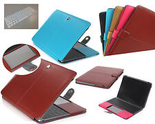 """Busine Leather Case + TPU Keyboard Cover for Macbook Pro Air Ratina 11""""12""""13""""15"""""""