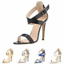 Women Crocodile PU Leather Sandals High Heels Party Shoes Open Toe Wedding Pumps
