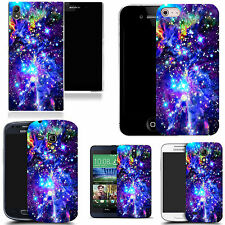 gel case cover for many mobiles - blue space silicone