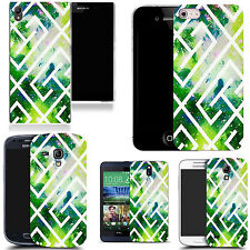 hard case cover for variety of mobiles - green maze