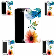 hard case cover for variety of mobiles -  blue feather