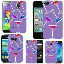 gel case cover for many mobiles - violet multi coctails silicone