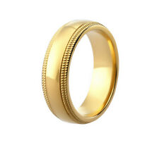 BRAND NEW 9CT YELLOW GOLD  COURT PATTERNED WEDDING RING ANY SIZE DC119