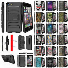 For Apple iPhone 7 Plus (5.5) Rugged Holster Belt Clip Case Hybrid Kickstand