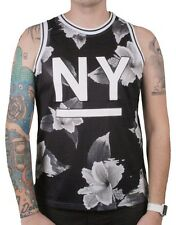 Reason NY Nightshade Black Flowers Basketball Jersey #7 Tank Top Shirt NWT