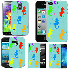 case cover for many mobiles - azure colourful seahorse droplet