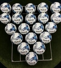 20 x MITRE MISSION TRAINING FOOTBALLS - WHITE/NAVY - Size 5