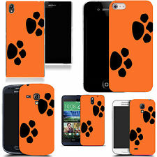case cover for majority Popular Mobile phones -orange dual paw silicone