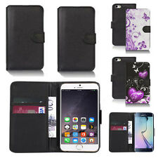 black pu leather wallet case cover for many mobiles design ref q411