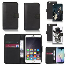 black pu leather wallet case cover for many mobiles design ref q605