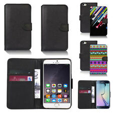 black pu leather wallet case cover for apple iphone models design ref q601