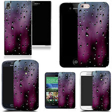 art case cover for various Mobile phones -  purple drizzle droplet silicone